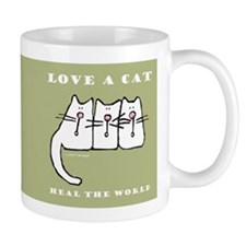 Love a Cat, Heal the World Mug