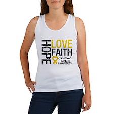 Childhood Cancer Faith Women's Tank Top