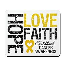 Childhood Cancer Faith Mousepad