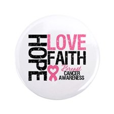 "Breast Cancer Faith 3.5"" Button (100 pack)"