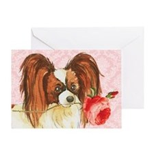 Papillon Rose Greeting Card