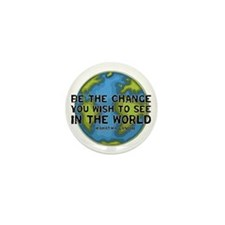 Gandhi - Earth - Change Mini Button (10 pack)