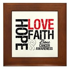 Bone Cancer Faith Framed Tile