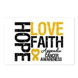 Appendix Cancer Faith Postcards (Package of 8)