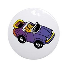 Purple Car Ornament
