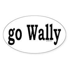 go Wally Oval Decal