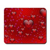 Bubble Hearts by ADZ Mousepad