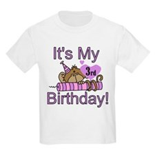 Girl Monkey 3rd Birthday T-Shirt