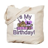 Girl Monkey 6th Birthday Tote Bag