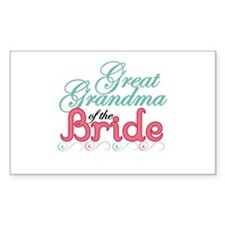 Great Grandma of the Bride Rectangle Decal