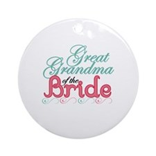 Great Grandma of the Bride Ornament (Round)