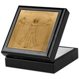 Cute Vitruvian man Keepsake Box