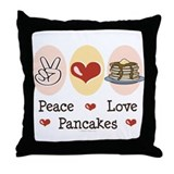 Peace Love Pancakes Throw Pillow