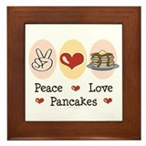 Peace Love Pancakes Framed Tile