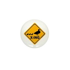 Duck X-ing Mini Button (10 pack)