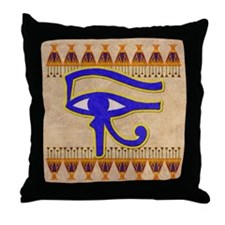 Eye of Horus Throw Pillow