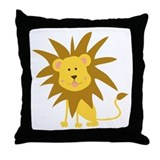 Lion Rawr Throw Pillow