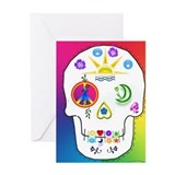 Greeting Card sugar skull no inside