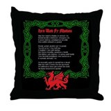 Welsh National Anthem Throw Pillow