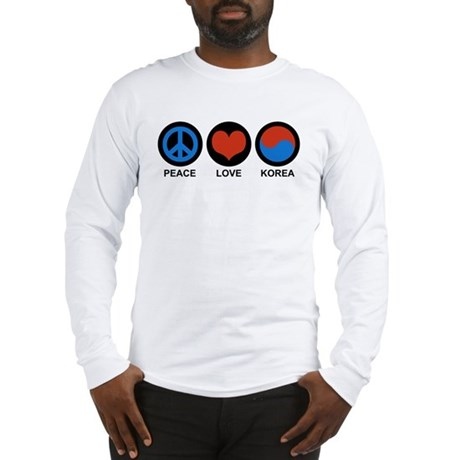 Peace Love Korea Long Sleeve T-Shirt