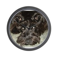Funny Black miniature schnauzer Wall Clock