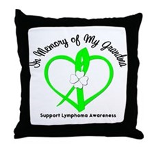 Lymphoma Memory Grandma Throw Pillow