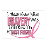 Bravery (Best Friend) Breast Cancer Postcards (Pac