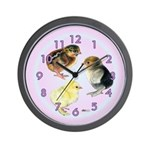 Baby Chick Trio Wall Clock