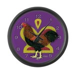 Partridge Chantecler Rooster Large Wall Clock