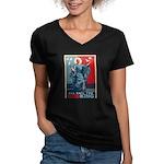 God-King Women's V-Neck Dark T-Shirt
