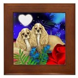 COCKER SPANIEL DOG Framed Tile