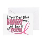 Bravery (Friend) Breast Cancer Greeting Cards (Pk