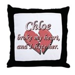 Chloe broke my heart and I hate her Throw Pillow