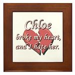 Chloe broke my heart and I hate her Framed Tile