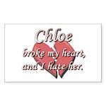 Chloe broke my heart and I hate her Sticker (Recta