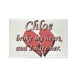Chloe broke my heart and I hate her Rectangle Magn