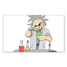 Mad Scientist Rectangle Sticker 10 pk)