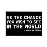 Quote - Gandhi - Change Rectangle Magnet