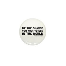 Quote - Gandhi - Change Mini Button (10 pack)