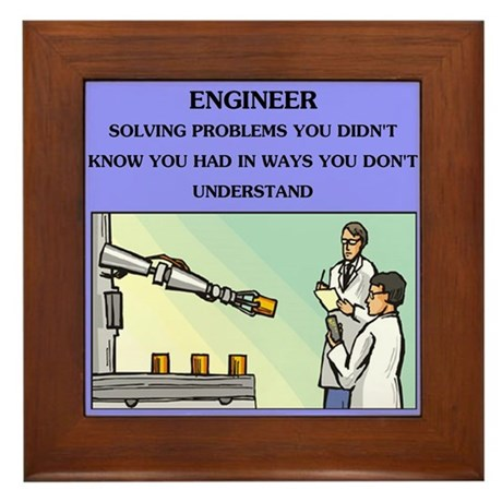 Engineer engineering joke framed tile by politicsisfun for Living room joke
