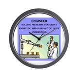 engineer engineering joke Wall Clock