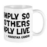 Quote - Gandhi - Live Simply Small Mug