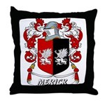 Merick Coat of Arms Throw Pillow
