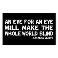 Quote - Gandhi - Eye for an Eye Decal