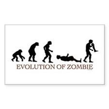 Evolution of Zombie Rectangle Sticker 10 pk)
