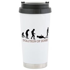 Evolution of Zombie Ceramic Travel Mug