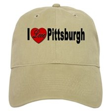 I Love Pittsburgh Baseball Cap