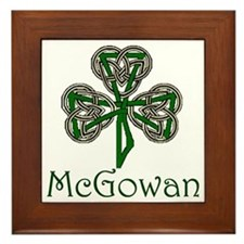 McGowan Shamrock Framed Tile