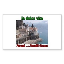 Atrani on the Amalfi Coast Rectangle Decal
