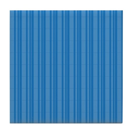 Blue Stripes Tile Coaster